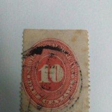 Sellos: SELLO 10 CENTAVOS, 1880-1890 ,SERVICIO POSTAL MEXICANO,. Lote 183598132