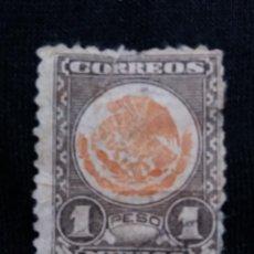 Sellos: CORREO DE MEXICO, 1 PESO, ESCUDO ARMAS, AÑO 1945,. Lote 184873291