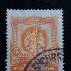 Sellos: CORREO DE MEXICO, 5 CTS, ESCUDO ARMAS, AÑO 1900, . Lote 184876445