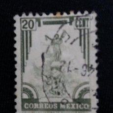 Sellos: CORREO DE MEXICO, 20 CTS, MONUMENTOS, AÑO 1934, . Lote 185201051