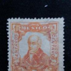Sellos: CORREO DE MEXICO, 5 CTS, HIDALGO, AÑO 1910, . Lote 185267485