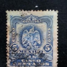 Sellos: CORREO DE MEXICO, 5 CTS, ESCUDO ARMAS, AÑO 1899,. Lote 185282895