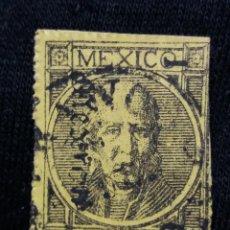 Sellos: CORREO DE MEXICO, 50 CTS, HIDALGO, AÑO 1868, SIN PERFORAR.. Lote 185311225