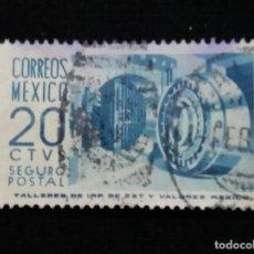 Sellos: CORREO MEXICO, 20 CTS, SEGURO POSTAL, AÑO 1950,. Lote 187114251