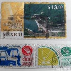 Sellos: MEXICO, 3 SELLOS USADOS DIFERENTES. Lote 190104636