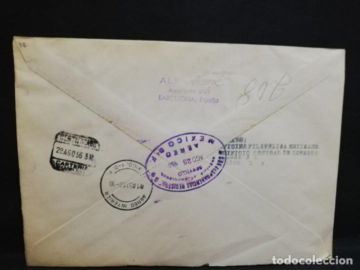 Sellos: SOBRE CIRCULADO PRIMER DIA - CENTENARIO DE LA PRIMERA ESTAMPILLA MEXICANA (Agosto-1956). - Foto 2 - 190205967