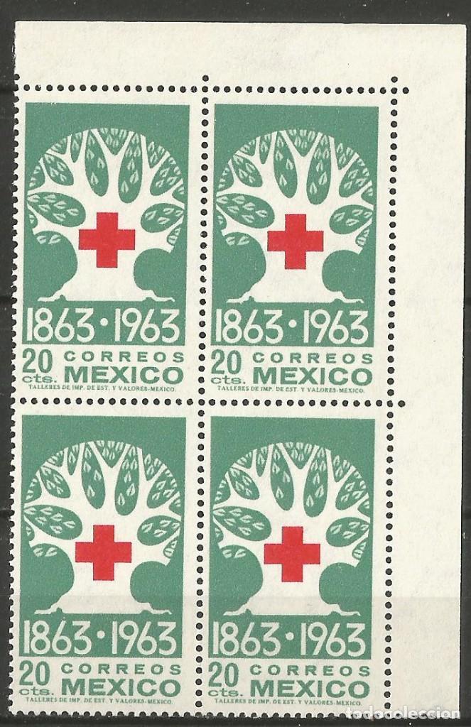 Sellos: MÉXICO - 100 AÑOS CRUZ ROJO - 2 BLOQUES DE 4 SELLOS NUEVOS CON GOMA Y BORDES - Foto 2 - 193997253