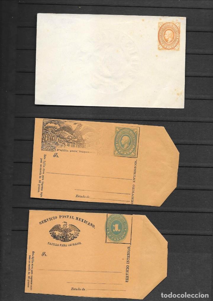 Sellos: MEXICO COLECCION DE ENTEROS POSTALES NUEVOS DE LOS SIGLOS XIX Y XX HASTA EL AÑO 1945 APROXIMADAMENTE - Foto 3 - 194344025