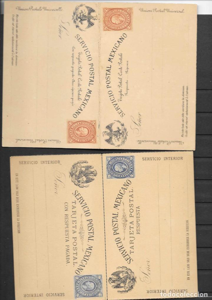 Sellos: MEXICO COLECCION DE ENTEROS POSTALES NUEVOS DE LOS SIGLOS XIX Y XX HASTA EL AÑO 1945 APROXIMADAMENTE - Foto 12 - 194344025