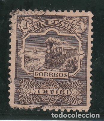 MEXICO 177 USADA, FF.CC., ESTACION DE TREN (Sellos - Extranjero - América - México)