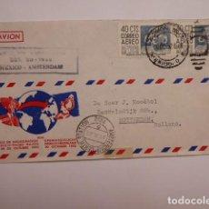 Sellos: CARTA VUELO INAUGURAL LINEA KLM, MEXICO HOLANDA, .1952.. Lote 196084632