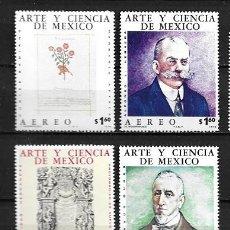 Francobolli: MÉJICO,ARTE Y CIENCIA DE MÉJICO, 1975,YVERT 400,401,402 Y 404 AÉREO,NUEVOS,MNH**. Lote 235982030