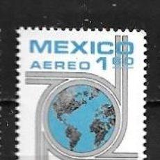 Sellos: MÉJICO,15 CONGRESO MUNDIAL DE AUTOPISTAS,1975,YVERT 398 AÉREO,NUEVOS,MNH**. Lote 294370703