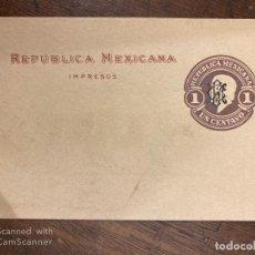 Sellos: FAJA DE LA REPUBLICA MEXICANA. MEXICO. 1 CENTAVO. VER FOTO. . Lote 197599738