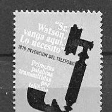 Sellos: MÉJICO,1976,CENTENARIO DEL TELÉFONO,NUEVO,MNH**,YVERT 406 AÉREO. Lote 254346665