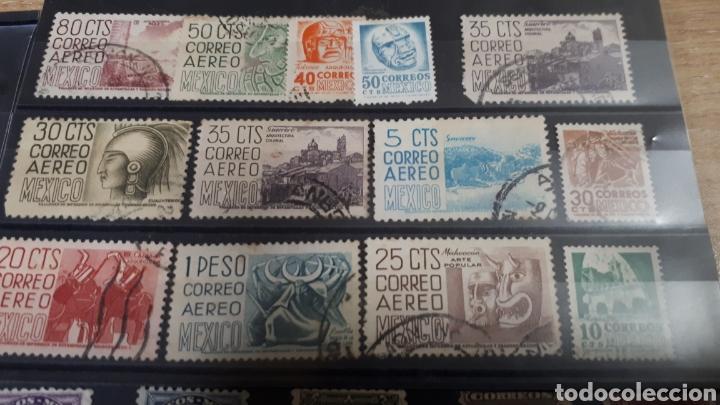 Sellos: SELLOS ANTIGUOS USADOS DE MEXICO SE ENVIAN EN UNA FICHA CON SOBRE PROTECTOR C361 - Foto 6 - 198071866