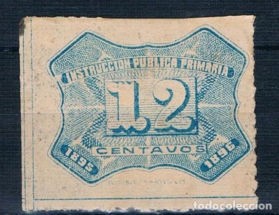 MEXICO 1895/1896 TASA INSTRUCCION PUBLICA PRIMARIA EN BUEN ESTADO VER DOS FOTOGRAFÍAS (Sellos - Extranjero - América - México)
