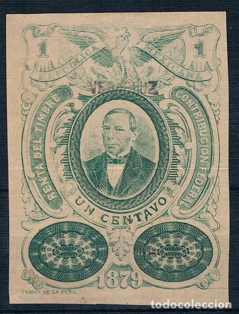 MEXICO 1879 CONTRIBUCION FEDERAL NUMERADO VER DESCRIPCIÓN DOS FOTOGRAFÍAS (Sellos - Extranjero - América - México)