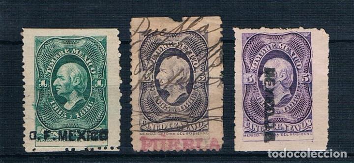 MEXICO 1885/1886 TIMBRES FISCALES USADOS (Sellos - Extranjero - América - México)