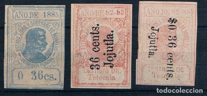 MEXICO 1882/1885 CONTRIBUCION PERSONAL MORELOS. VER DESCRIPCIÓN 2 FOTOGRAFÍAS (Sellos - Extranjero - América - México)