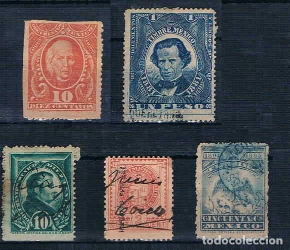 MEXICO TASAS VARIAS USADAS 1881/1893 (Sellos - Extranjero - América - México)