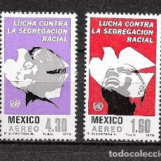 Sellos: MÉJICO,1978,LUCHA CONTRA LA SEGREGACIÓN,YVERT 485-486,NUEVOS,MNH**. Lote 287445508