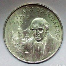 Sellos: MEXICO 1953, 5 PESOS, AÑO DE HIDALGO, EM PLATA DE 720/000. LOTE 2525. Lote 199641133