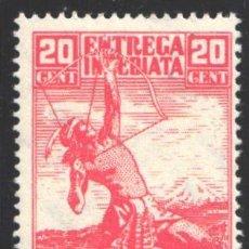 Francobolli: MÉXICO, EXPRESO 1934 YVERT Nº 6 /*/, ARQUERO INDIO. Lote 199866262