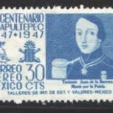 Francobolli: MÉXICO, AÉREOS 1947 YVERT Nº 164 / 166 /*/, CENTENARIO DE LA BATALLA DE CHAPULTEPEC, . Lote 199877573