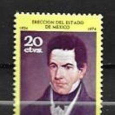 Sellos: MÉJICO,125 ANIVERSARIO DE LA PROCLAMACIÓN DE LA REPÚBLICA,1975,YVERT 814,NUEVOS,MNH**. Lote 294370378