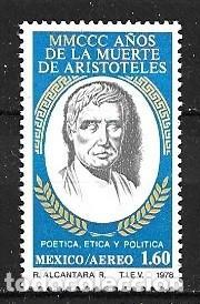 MÉJICO,1978,ARISTÓTELES,YVERT 483 AÉREO,NUEVOS,MNH** (Sellos - Extranjero - América - México)