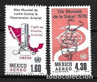 MÉJICO,1978,SALUD,YVERT 456-457 AÉREO.NUEVOS,MNH** (Sellos - Extranjero - América - México)