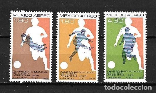 MÉJICO,1978,ARGENTINA 82,YVERT 469-471 AÉREO.NUEVOS,MNH** (Sellos - Extranjero - América - México)