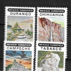 Sellos: MÉJICO,1982,TURISMO, MICHEL 1821-1824,NUEVOS,MNH**. Lote 269108573