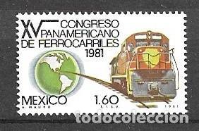 MÉJICO,1981,CONGRESO DE FERROCARRILES, MICHEL 1770, NUEVOS,MNH** (Sellos - Extranjero - América - México)