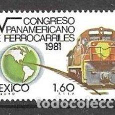 Sellos: MÉJICO,1981,CONGRESO DE FERROCARRILES, MICHEL 1770, NUEVOS,MNH**. Lote 220874273