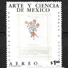 Sellos: MÉJICO,ARTE Y CIENCIA DE MÉJICO, 1975,YVERT 402 AÉREO,NUEVOS,MNH**. Lote 294370663