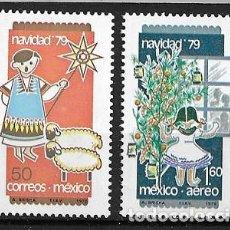 Sellos: MÉJICO,1979,NAVIDAD,YVERT 880 Y 516 AÉREO,NUEVOS,MNH**. Lote 269108173