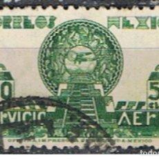 Sellos: MEXICO // YVERT 131 AEREO // 1944-47 ... USADO. Lote 206931361