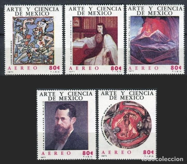 MEXICO 1971 - ARTE Y CIENCIA - YVERT Nº AV 315-319** (Sellos - Extranjero - América - México)