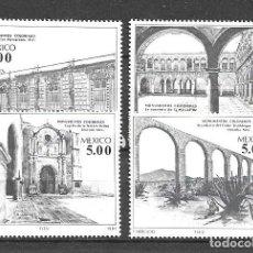 Francobolli: MÉJICO,1981,EDIFICIOS COLONIALES, MICHEL 1773-1776, NUEVOS,MNH**. Lote 220870388
