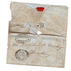 Sellos: SOBRE DE BUJADA A MAZATLAN, MEXICO. AÑO 1863. FAMILIA SARACHAGA. Lote 214093873