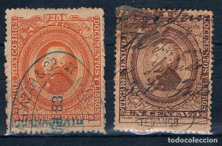 MEXICO 1883 TASA DOCUMENTOS Y LIBROS USADOS (Sellos - Extranjero - América - México)