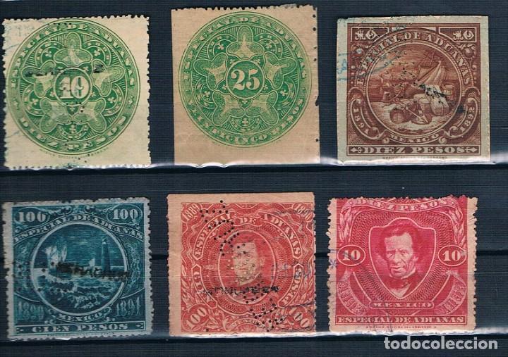 MEXICO ADUANAS 1889/1891 USADOS VER CONTIENE EL DE 100 PESOS (Sellos - Extranjero - América - México)
