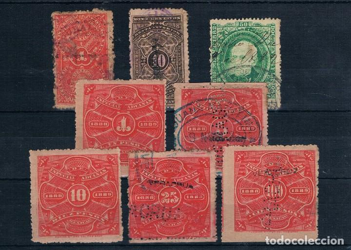 MEXICO CONJUNTO DE SELLOS ADUANAS USADOS 1882/1888 (Sellos - Extranjero - América - México)
