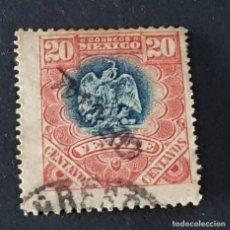 Sellos: MÉXICO MÉJICO, 1900, ESCUDO ARMAS, SERVICIO OFICIAL, SCOTT O55, YVERT 26, USADO, ( LOTE AG ). Lote 218262328