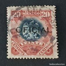 Sellos: MÉXICO MÉJICO, 1900, ESCUDO ARMAS, SERVICIO OFICIAL, SCOTT O55, YVERT 26, USADO, ( LOTE AG ). Lote 218262352