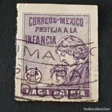 Sellos: MÉXICO MÉJICO, 1929, BENEFICENCIA, TASA POSTAL, SCOTT RA8, USADO, ( LOTE AG ). Lote 218263497