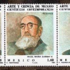 Sellos: MEXICO/1982/MNH/SC#1297A/ TIRA DE 5 / CIENTIFICOS MEXICANOS / CIENCIA. Lote 218873301