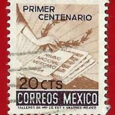 Francobolli: MEJICO. 1954. CENTENARIO DEL HIMNO NACIONAL. Lote 222254477